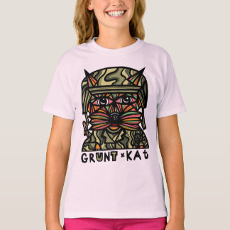 """Grunt Kat"" Girls' TAGLESS® T-Shirt"