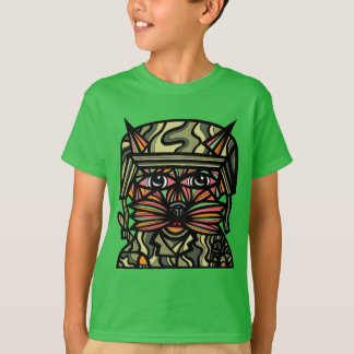 """Grunt Kat"" Kids' Hanes TAGLESS® T-Shirt"