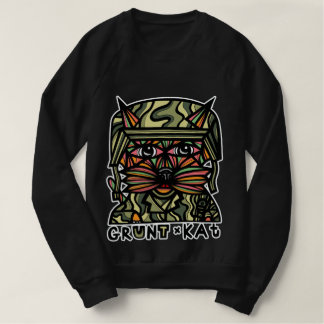 """""""Grunt Kat"""" Men's American Apparel Sweatshirt"""