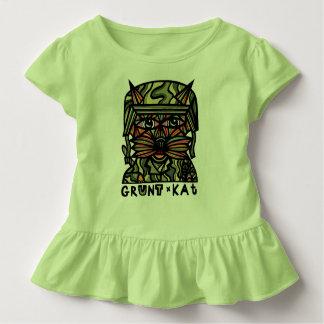"""Grunt Kat"" Toddler Ruffle Tee"