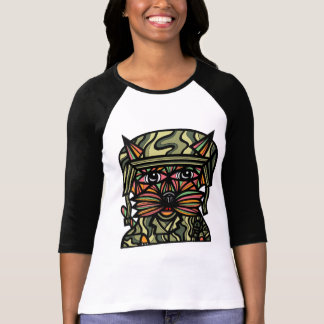 """Grunt Kat"" Women's 3/4 Sleeve Raglan T-Shirt"