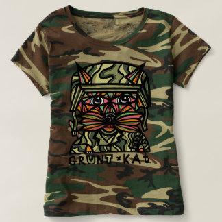 """Grunt Kat"" Women's Camouflage T-Shirt"