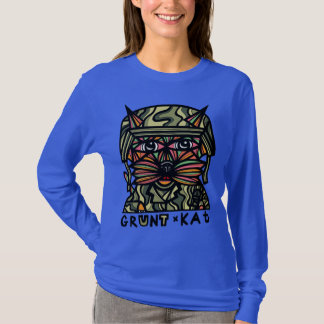"""Grunt Kat"" Women's Long Sleeve Shirt"