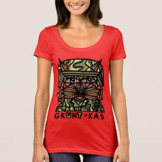 """""""Grunt Kat"""" Women's Scoop Neck T-Shirt"""