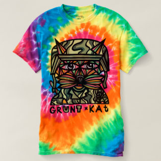 """Grunt Kat"" Women's Spiral Tie-Dye T-Shirt"