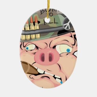 GRUNT PIG CERAMIC OVAL DECORATION