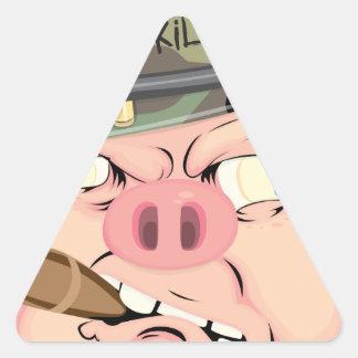 GRUNT PIG TRIANGLE STICKER