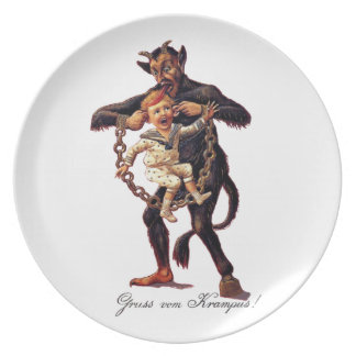 Gruss vom (Greetings From) Krampus Plate