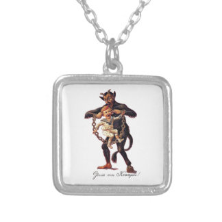 Gruss vom (Greetings From) Krampus Silver Plated Necklace