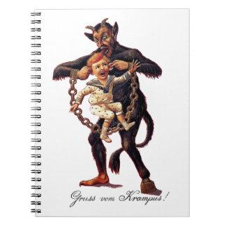 Gruss vom (Greetings From) Krampus Spiral Notebook