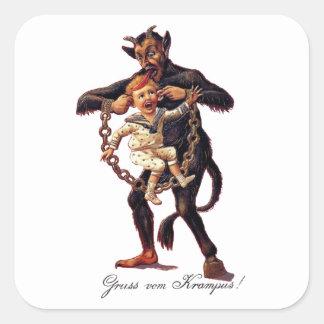 Gruss vom (Greetings From) Krampus Square Sticker