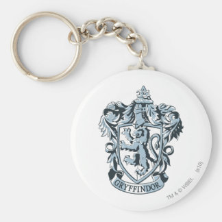 Gryffindor crest blue basic round button key ring