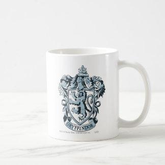 Gryffindor crest blue basic white mug