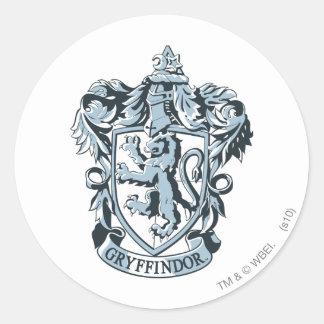 Gryffindor crest blue round stickers