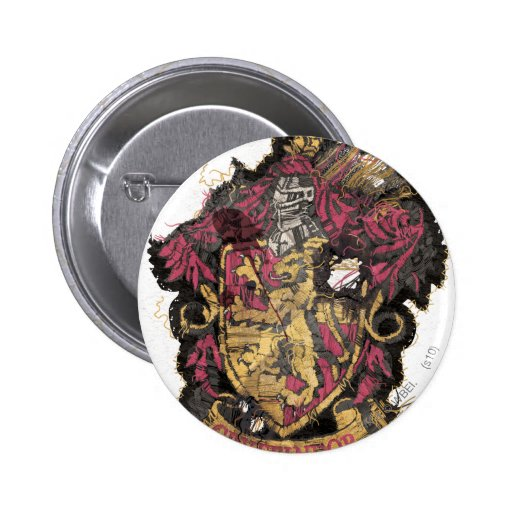 Gryffindor Crest - Destroyed 6 Cm Round Badge