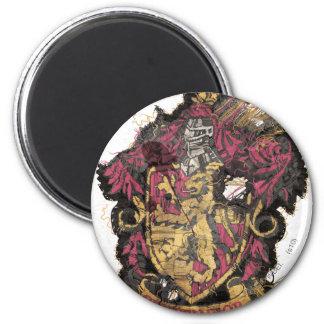Gryffindor Crest - Destroyed 6 Cm Round Magnet