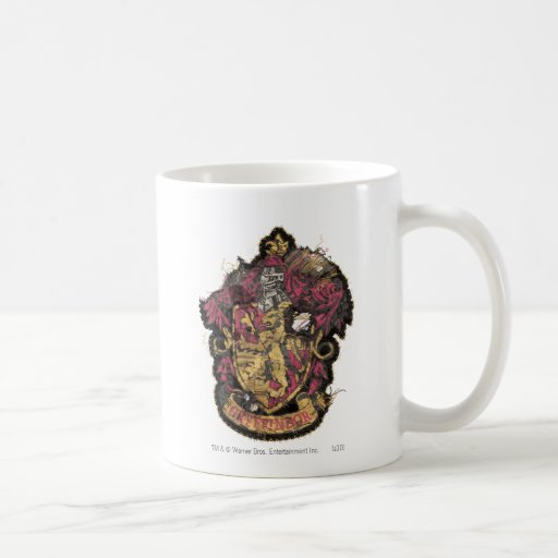 Gryffindor Crest - Destroyed Basic White Mug
