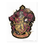 Gryffindor Crest - Destroyed Postcard