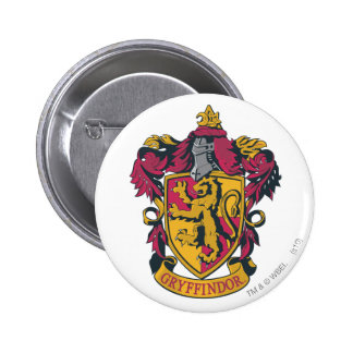 Gryffindor crest red and gold 6 cm round badge