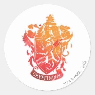 Gryffindor Crest - Splattered Classic Round Sticker