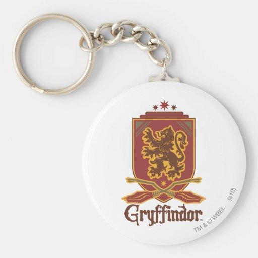 Gryffindor Quidditch Badge Keychains