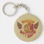 Gryffindor Quidditch Captain Emblem Basic Round Button Key Ring