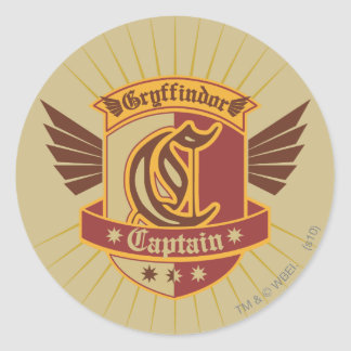 Gryffindor Quidditch Captain Emblem Stickers
