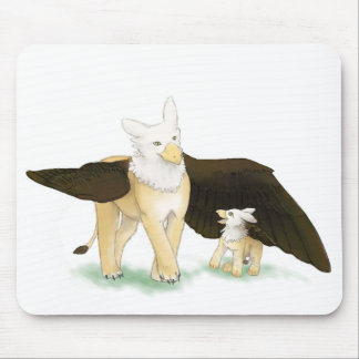 Gryphon and baby mouse pad