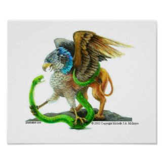 Gryphon and the Snake Poster