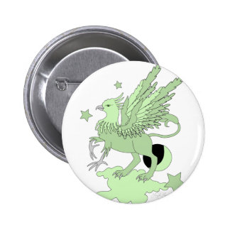 Gryphon Avocado Green Pinback Buttons