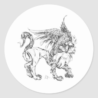 Gryphon Classic Round Sticker