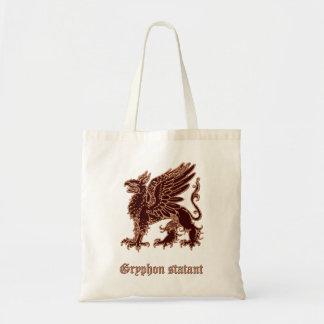 Gryphon medieval heraldry budget tote bag