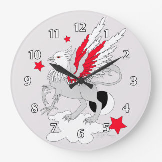 Gryphon or Griffin Red Wallclock