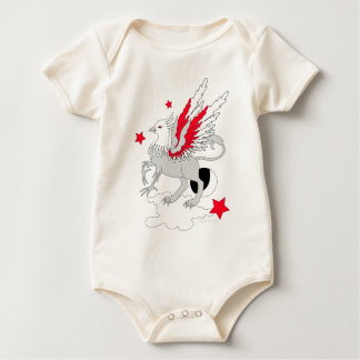 Gryphon Red And White Baby Bodysuit