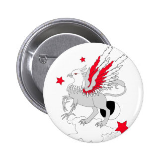 Gryphon Red And White Pin