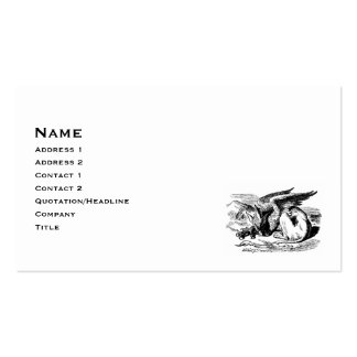 Gryphon Resting Gothic Business Card