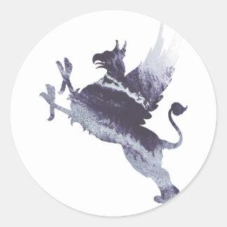 Gryphon Round Sticker