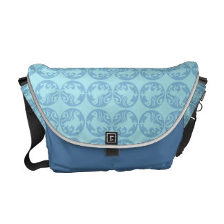 Gryphon Silhouette Pattern - Light Blue Courier Bag
