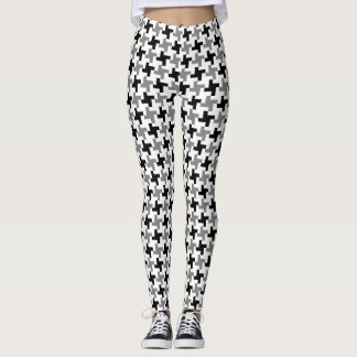 GS Houndstooth Star Patterned Leggings