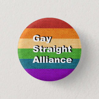 GSA - Gay Straight Alliance Ally Button Pin