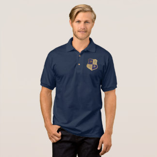 GSA House Crest No Wings Blue Gold Polo Shirt