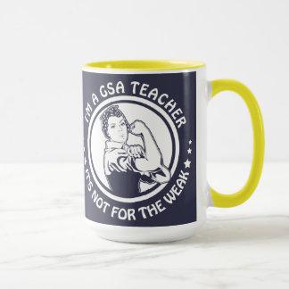 GSA Rosie Riveter Logo Mug 15oz Gold and blue