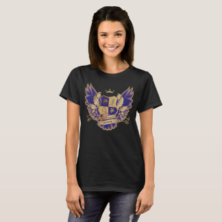 GSAs House Crest with Wings Blue Gold Owl Wings T-Shirt