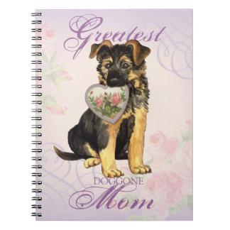 GSD Heart Mom Notebook