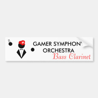 GSO Bass Clarinet Bumper Sticker