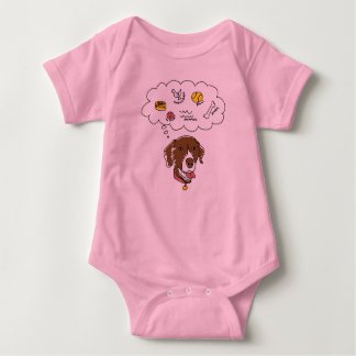 GSP Thoughts Baby Jersey Bodysuit