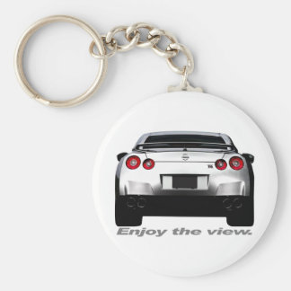 """GT-R """"Enjoy the view."""" Basic Round Button Key Ring"""