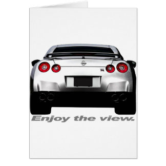 "GT-R ""Enjoy the view."" Greeting Card"