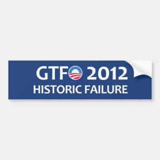 GTFO 2012 Historic Failure Bumper Sticker