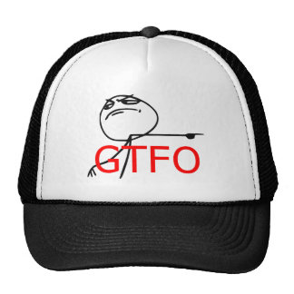 GTFO Get Out Guy Rage Face Comic Meme Cap
